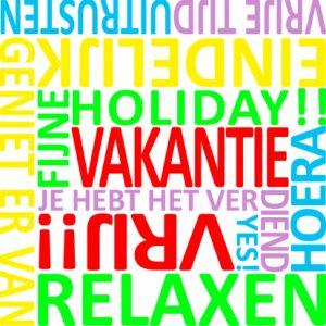 vakantie-woordenkaart